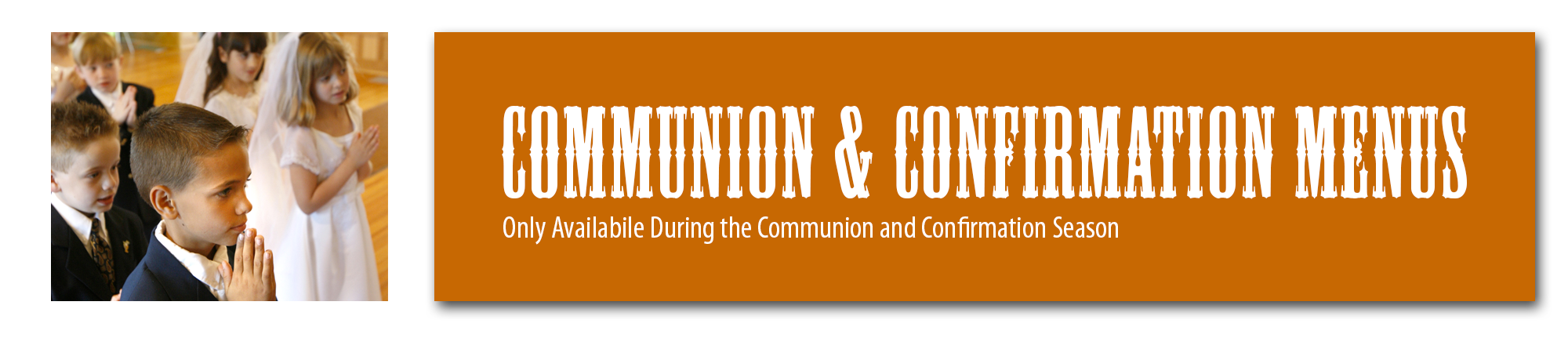 Communion And Confirmation Menus